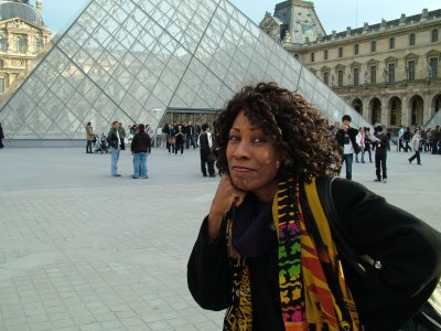 Wambui at the Louvre