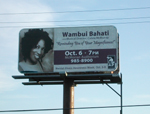 Wambui Bahati on Bill Board in Port Huron, MI
