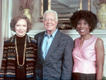 Wambui Bahati with President Jimmy and Rosalyn Carter