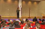 WambuiBahati speaks at Forsyth Technical Community College