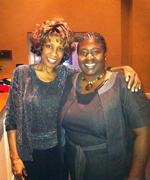 Wambui Bahati with Ms. Jamison, Voorhees College, Denmark, SC March 3, 2011