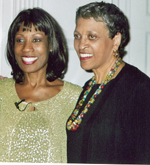 Wambui Bahati With Johnnetta B. Cole after performance at Bennett College, 2006