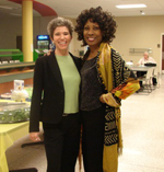 Wambui with Leila Rogers at Horry-Georgetown Technical College
