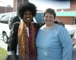 Wambui Bahati With Lynn Vinson of Blue Water Clubhouse and Community Mental Health Port Huron, MI, 2004