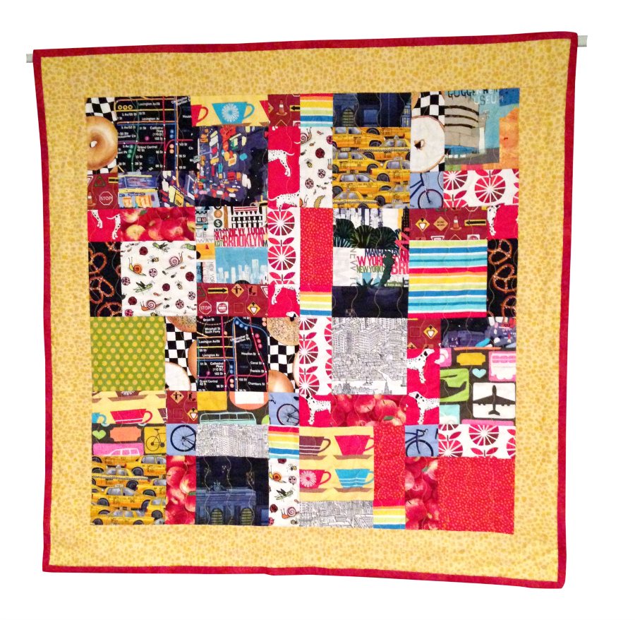 Wambui Made It: 'Mix-up New York City' quilt (front)