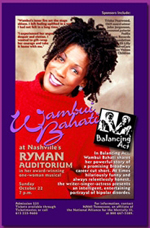 NAMI Tenn Poster for Wambui Bahati's Balancing Act at Ryman Theater