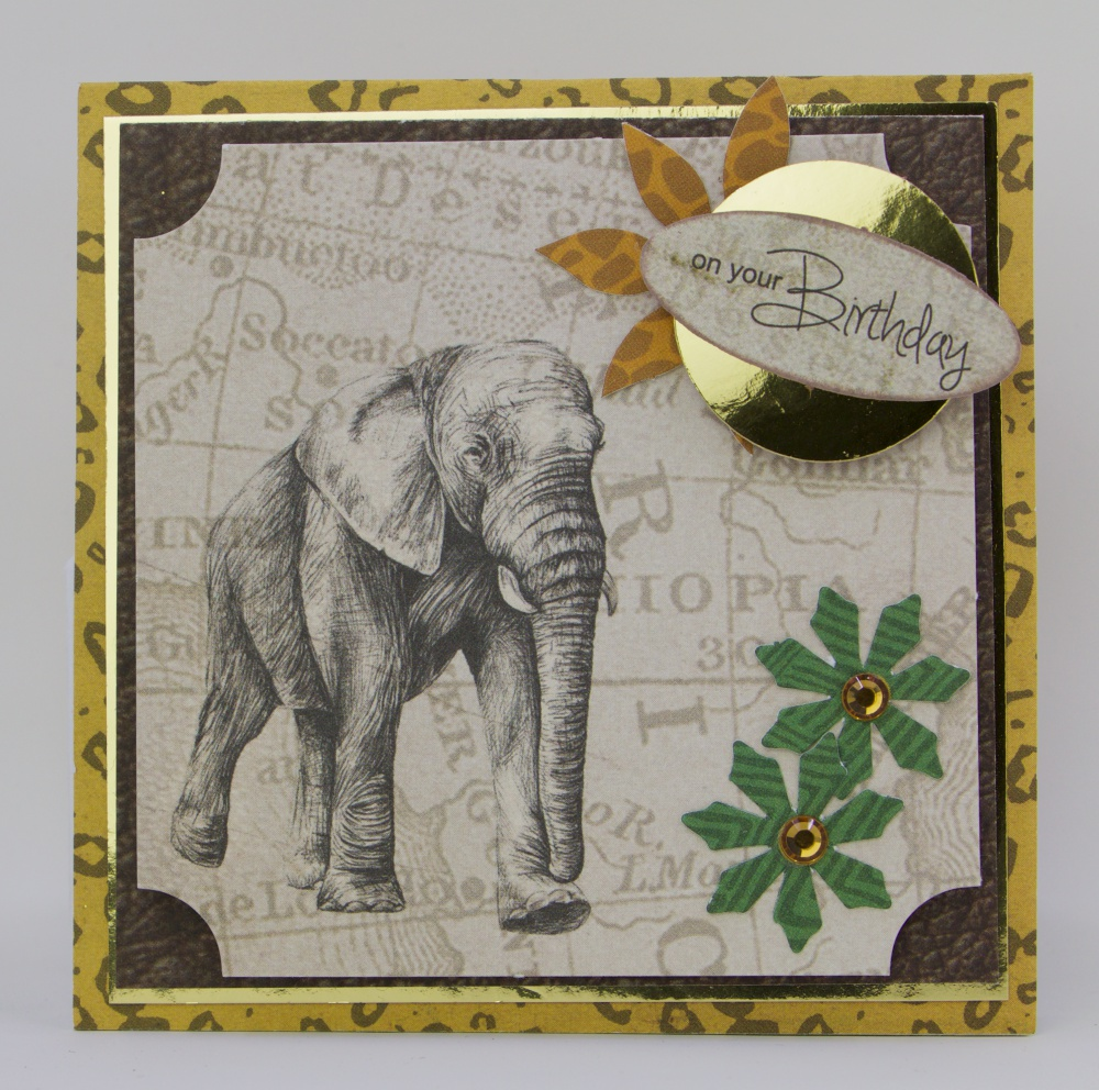 Wambui Made It: Safari Elephant Pop-out Birthday card