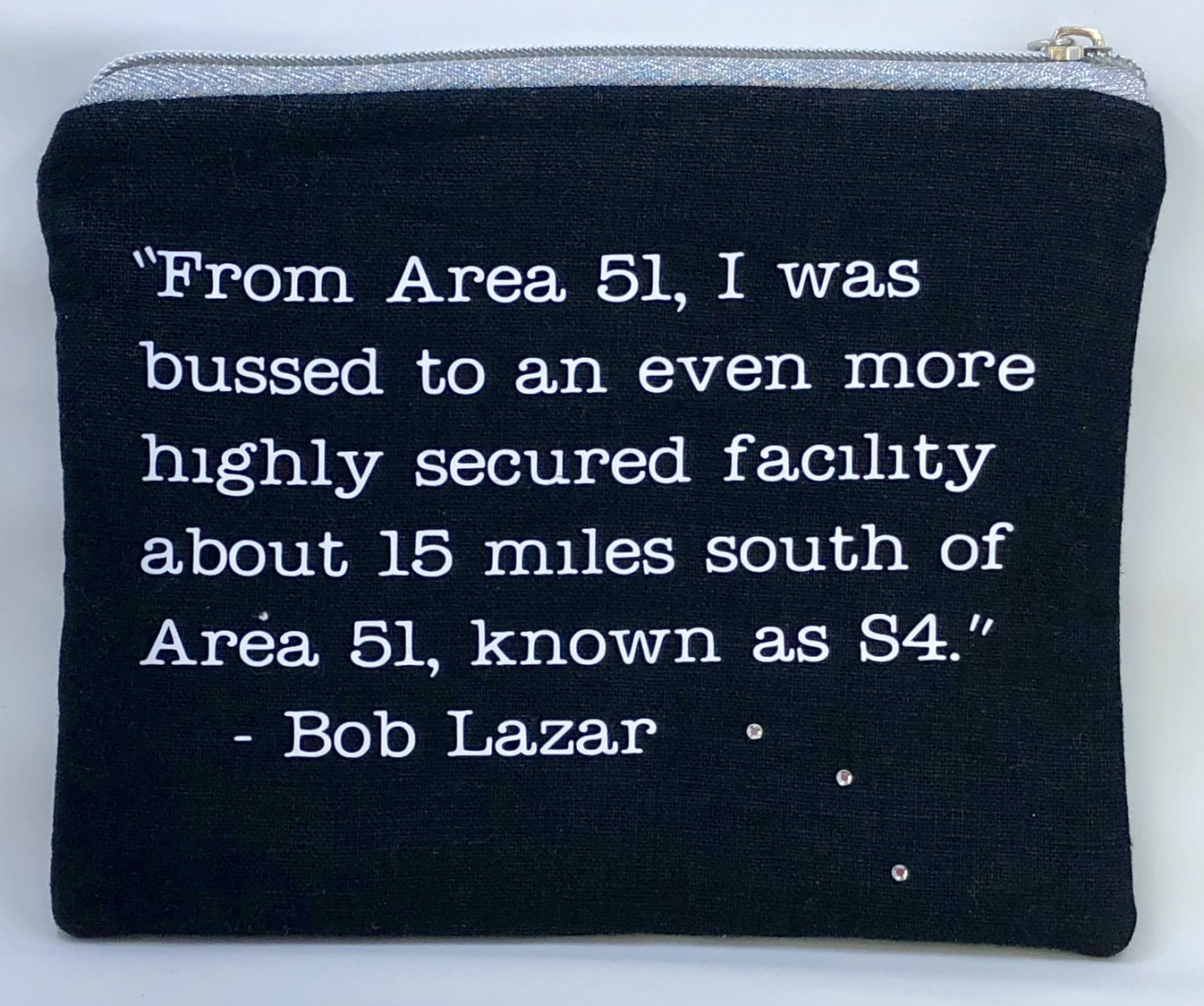 from 'Wambui Made It' - I believe Bob Lazar pouch - back