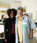 Wambui Bahati with member of Louisiana Coalition Against  Domestic Violence