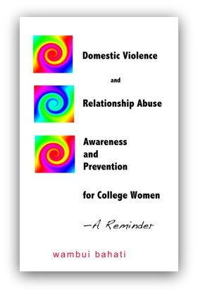 Domestic Violence Book Cover by Wambui Bahati