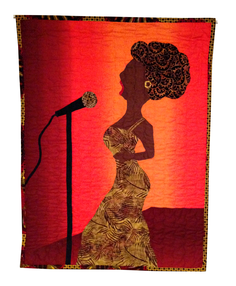 Wambui Made I:'Singing Solo' quilt (front)