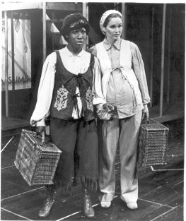 Two Gentlemen of Verona Wambui Bahati (John Ann Washington)and Louise Shaffer  (1974 National tour)